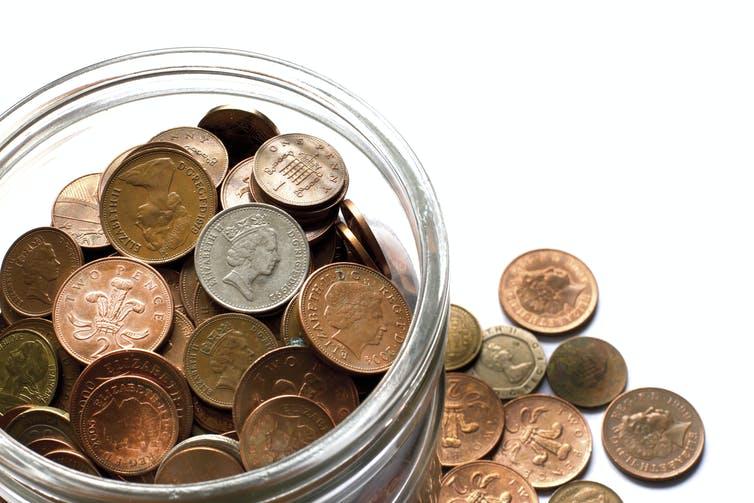 pile pennies
